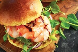 Prawn & salmon burgers  recipee